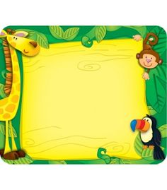 Jungle Name Tags - Carson Dellosa Publishing Education Supplies. #CDWishList