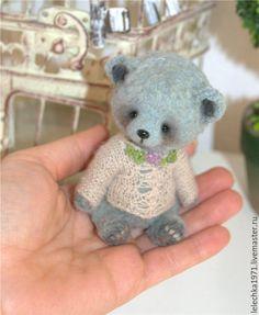 Handmade Teddy toy / Petti - голубой, мишки тедди, авторские мишки, olga schlegel, handmade, фактурная пряжа