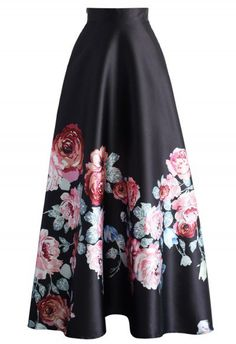 Endless Blooming Rose Maxi Skirt