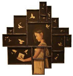 Judith Kindler - The use of multiple frames displaying individual images arranged together to create the full image.