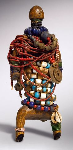 West Africa - Beaded Doll With Amulets