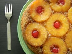 Eggless Pineapple Upside Down Cake Print Prep time 10 mins Cook time 40 mins Total time 50 mins. Pineapple Upside Cake, Pineapple Slices, Canned Pineapple, Cake Tins, Cake Plates, Buttermilk Syrup, Savoury Cake, Other Recipes, Cake Recipes