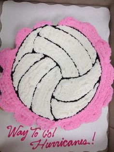 volleyball cupcake cake
