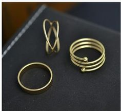 2015 Latest Fashion Punk 14K Gold Plated Midi Rings Sets For women 100% New  ArriveTrendy Wholesale