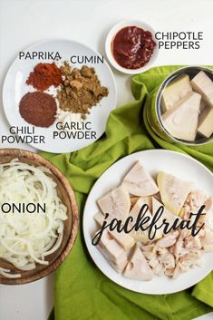 """This vegan jackfruit carnitas recipe is so """"meaty"""" and satisfying it's hard to believe you're not eating real meat! It's a great quick & easy dinner. How To Cook Jackfruit, Jackfruit Recipes, Vegan Foods, Vegan Dishes, Vegan Vegetarian, Vegetarian Recipes, Jackfruit Carnitas, Carnitas Tacos, Vegan Recipes"""