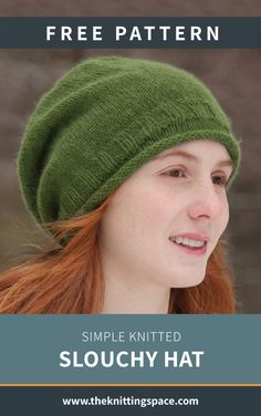 Simple Knitted Slouchy Hat [FREE Knitting Pattern] Simple Knitted Slouchy Hat [FREE Knitting Pattern],Bigknitbren bren This hip and laid-back beanie is the ideal piece to knit for a teenager this fall and winter seasons. Beanie Knitting Patterns Free, Beanie Pattern Free, Free Knitting, Vogue Knitting, Knitting Yarn, Slouch Hat Knit Pattern, Zip Cardigan, Sweater, Teenager