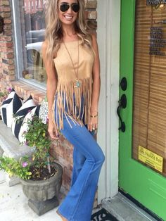 Sioux Fringe Top