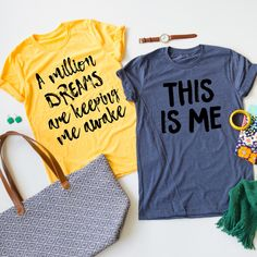 If you've seen the movie you will know that you need one of these tees! These Showman Lyric tees are perfect for layering under any sweater, flannel, or cardigan! These tee shirts are so soft!