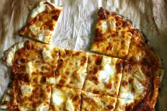 This pizza is a regular item on our weekly menu. The cracker crust takes minutes to make, and our kids love helping roll it out and putting their favorite toppings on. St. Louis Pizza | The Vanilla Bean Blog