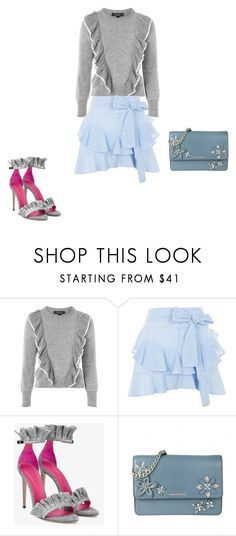 """""""Untitled #15379"""" by explorer-14576312872 ❤ liked on Polyvore featuring Topshop, Oscar Tiye and MICHAEL Michael Kors"""