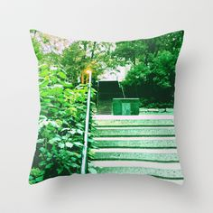 Park In Montreal 8323 Throw Pillow by Korok Studios - $20.00