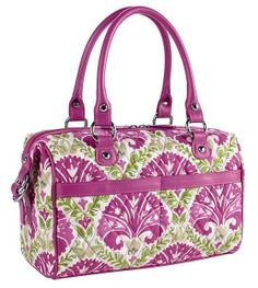 Vera Bradley MINI LOFT DUFFEL Bag Purse ~ JULEP TULIP & Plum Trim ~ New/NWT #VeraBradley #ShoulderBag