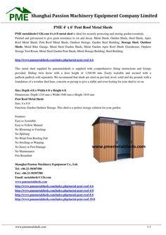 Pme 4' x 6' pent roof metal sheds