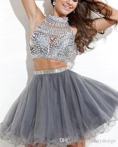 Perfect Homecoming Dress Blush 2015 Blingbling 2 Two Pieces Black Homecoming Dresses Short Cheap Beaded Crystals Tulle Mini Sexy Cocktail Prom Dress Cps175 Homecoming Dress Under $50 From Beautydesign, $45.06| Dhgate.Com
