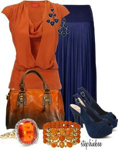 Love the orange with the blue--complimentary colors