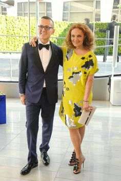 The CFDA Turns It Up on the Red Carpet - Steven Kolb and Diane von Furstenberg