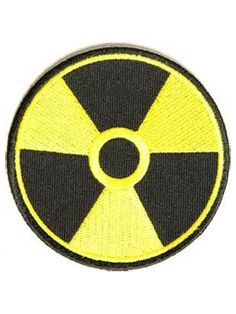 Radioactive Patch with heat sealed backing. Perfect for leather jackets and leather vests.