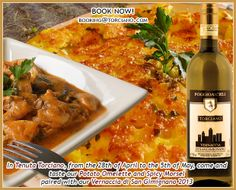 Vernaccia paired with our hand made food at the winery... yummy! #vernaccia #whitewine #food
