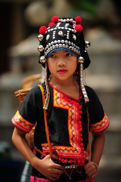 Akha girl in Chiang Mai.