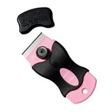 Mini Razor Scraper  $7.00  This high-quality ergonomic rubber grip scraper is perfect for scraping hard to remove substances such as paint or tape.  The blade is secure in the slot and can easily be replaced.  The cap allows for extra safety when storing.