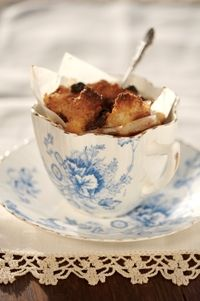 Spicy bread-&-butter pudding from Food from the heart. Courtesy of Lapa Publishers, photo by Adriaan Vorster Bread And Butter Pudding, South African Recipes, Food Styling, Spicy, Tea Cups, Heart, Tableware, Dinnerware, Tablewares