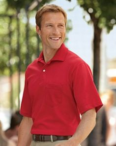 Broder | 5.6 oz. 50/50 Jersey Pocket Polo with SpotShield | Sport Shirts | Clemens Uniform | 436P