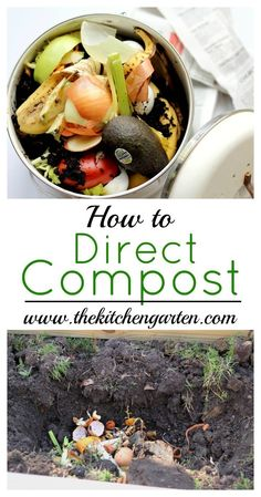 How To Urban Garden Don't have time for a compost pile? Direct Compost instead and put your compostables right into the ground! How To Start Composting, Composting Methods, How To Make Compost, Composting At Home, Composting Toilet, Urban Composting, Backyard Garden Landscape, Backyard Vegetable Gardens, Garden Compost