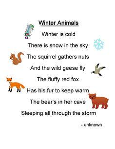 Winter Animals Poem
