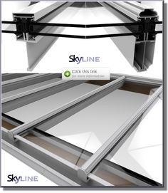 Patent Glazing Systems Overview - good comparison of skyline (this one) and skyline box.  This one has slimmer profiles, but may not be such a consideration because looking at sky???? Would like this pale grey or white