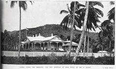 Moto'otua Hospital, Apia, Samoa, 1902 Showing Samoa under the Germans with the Moto'otua Hospital at Apia built by Mr G Kaust.