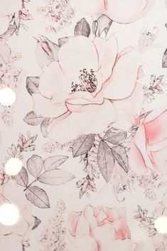 Dusty pink floral peel and stick wallpaper for baby girl nursery - Using Our Glamorous Pink Playroom to Manage Toy Clutter • Chandeliers and Champagne
