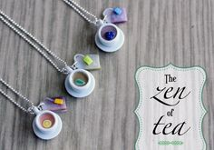 Polymer Clay Miniature Food Jewelry - Tea Necklace. $15.00, via Etsy.