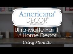How to use stencils with Americana Decor Chalky Finish paint
