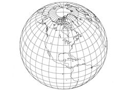 Geometric equations allowed early cartographers to visualize how continents wrap around the Earth. Globe Logo, Globe Icon, Earth Photos, Earth Design, Media Kit, Grafik Design, Digital Collage, Graphic Design Inspiration, Cover Art
