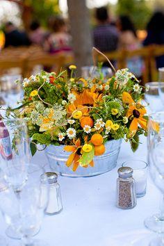Tablescape ● Floral Centerpiece ● sunflower