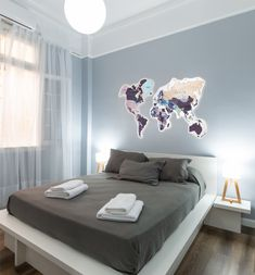 Violet & Purple World Map wall decor by GaDenMap. Push Pin travel map for wall decor in office room, bedroom, living room, kid's room decorating. Gray Rustic World Map by GaDenMap. Push Pin travel map for wall decor in office room, bedroom, living room, kids room decorating. Unique gift idea for travelers. Wall Decor Gifts for Her, PVC Travel Map, World Map Decal for Kids, Large Travel Map with Push Pins, Continent Map #woodenmap #kitchenwalldecorideas #kitchenwalldecor Wooden Decor, Wooden Wall Art, Rustic Decor, Farmhouse Decor, World Map Wall Decor, Wall Art Decor, Globe Decor, Branch Decor, Cool Walls