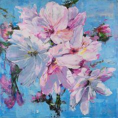 "Bloom - 2016  72x72"" Acrylic on Canvas  by Carmelo Blandino"