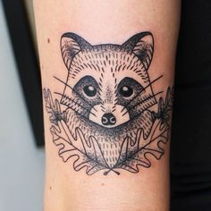 "473 Likes, 4 Comments - Jessica Channer  (@jessicachanner) on Instagram: ""Little raccoon buddy for Gabriella. Thanks!  #tattoo #tattoos #tattoosofinstagram #inkstagram…"""