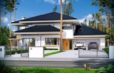 Dom z widokiem 2 Future House, My House, Design Case, Modern House Design, Home Fashion, Architecture, Mansions, Nice, House Styles