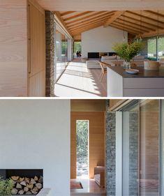 Wandfarbe wei helles holz glasfront graue m bel natural for Was bedeutet minimalistisch