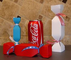 "Regular and Large candy ""cracker"" favor boxes!"
