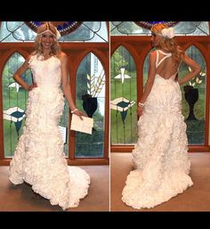 what is that made of, odd items, toilet paper wedding dress