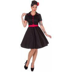 Dolly   Dotty 50er Jahre Rockabilly Petticoat Kleid - Penelope - Schwarz be42435db8