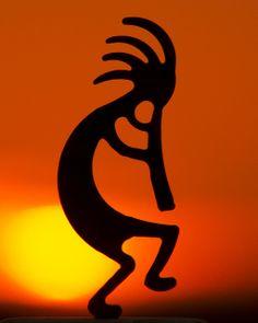 Kokopelli Sunset (Native American fertility deity), Southwest, U.S.  Photo: Marvin Bredel, via Flickr