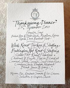 gorgeous menu