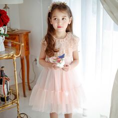 2 9 Yrs Summer Baby Girl Dress Princess Lace Knee length Dresses for Birthday Party Wedding or School Baby Girl Clothes Kids-in Dresses from Mother & Kids on Aliexpress.com | Alibaba Group