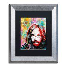 'Red Lennon' Framed Graphic Art Print