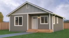An Accessory Dwelling Unit is an extra living unit on your property, complete wi… Small House Plans, House Floor Plans, Mother In Law Cottage, Mother In Law Apartment, In Law House, Single Story Homes, Apartment Plans, Prefab Homes, In Law Suite