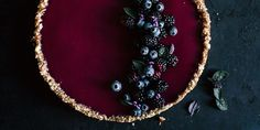 Dark Berries Tart with Basil - Picturre Design Daisy Cupcakes, Sunflower Cupcakes, Sunflower Party, Cupcake Cakes, Sunflower Seeds, How To Make Sunflower, Sunflower Crafts, Easy Smoothie Recipes, Easy Smoothies