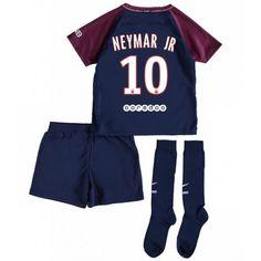 321b594744ebcd PSG Neymar Jr 10 Hjemmebanesæt Børn 17-18 Kort ærmer  Billige  Fodboldtrøjer